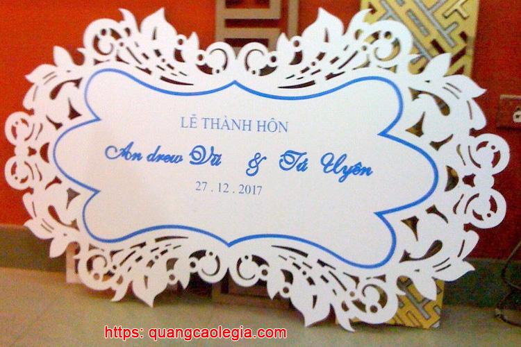 bảng tên đám cưới
