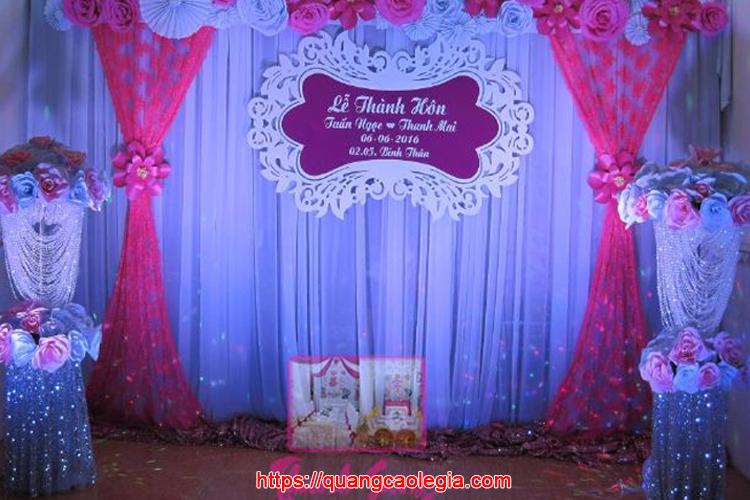 bảng tên cô dâu chú rể 1